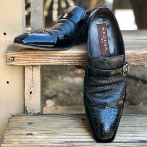 Mezlan Leather Monkstrap Wingtips